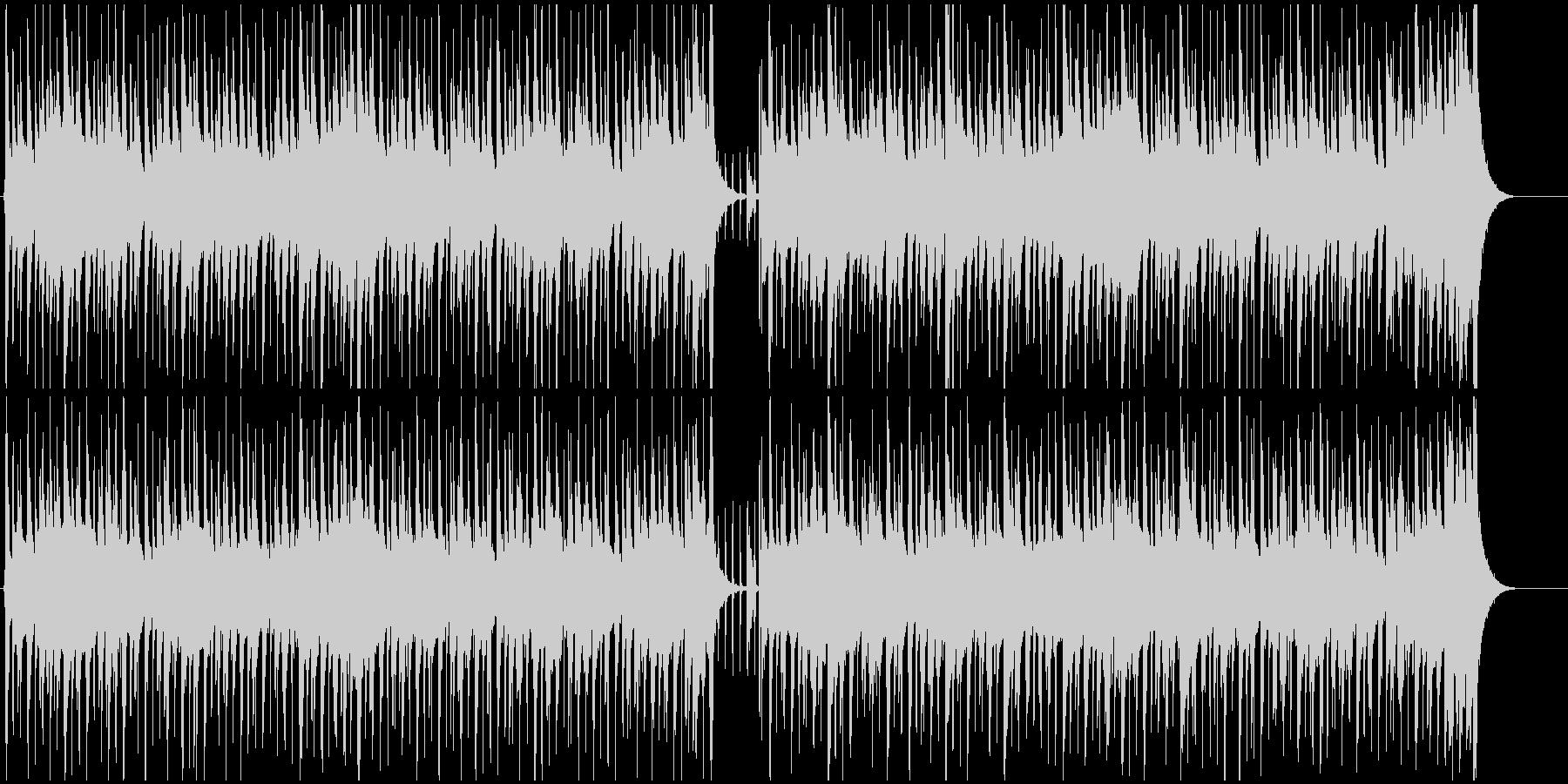 エレキギターが軽快なBGMの未再生の波形