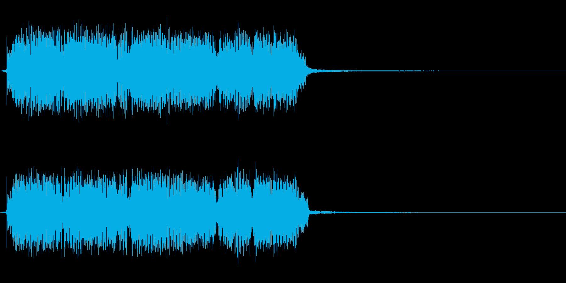 タイトル、ゲーム等のギターリフジングル短の再生済みの波形