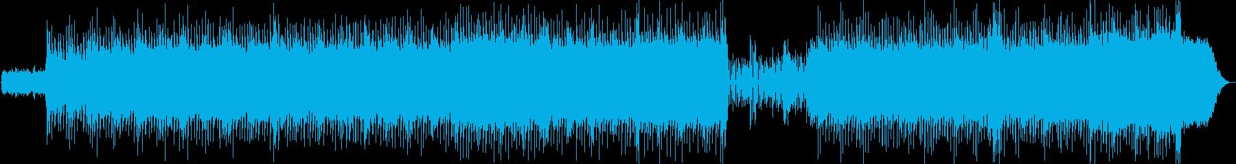 重たいドラム・軽快なアルペジオの再生済みの波形