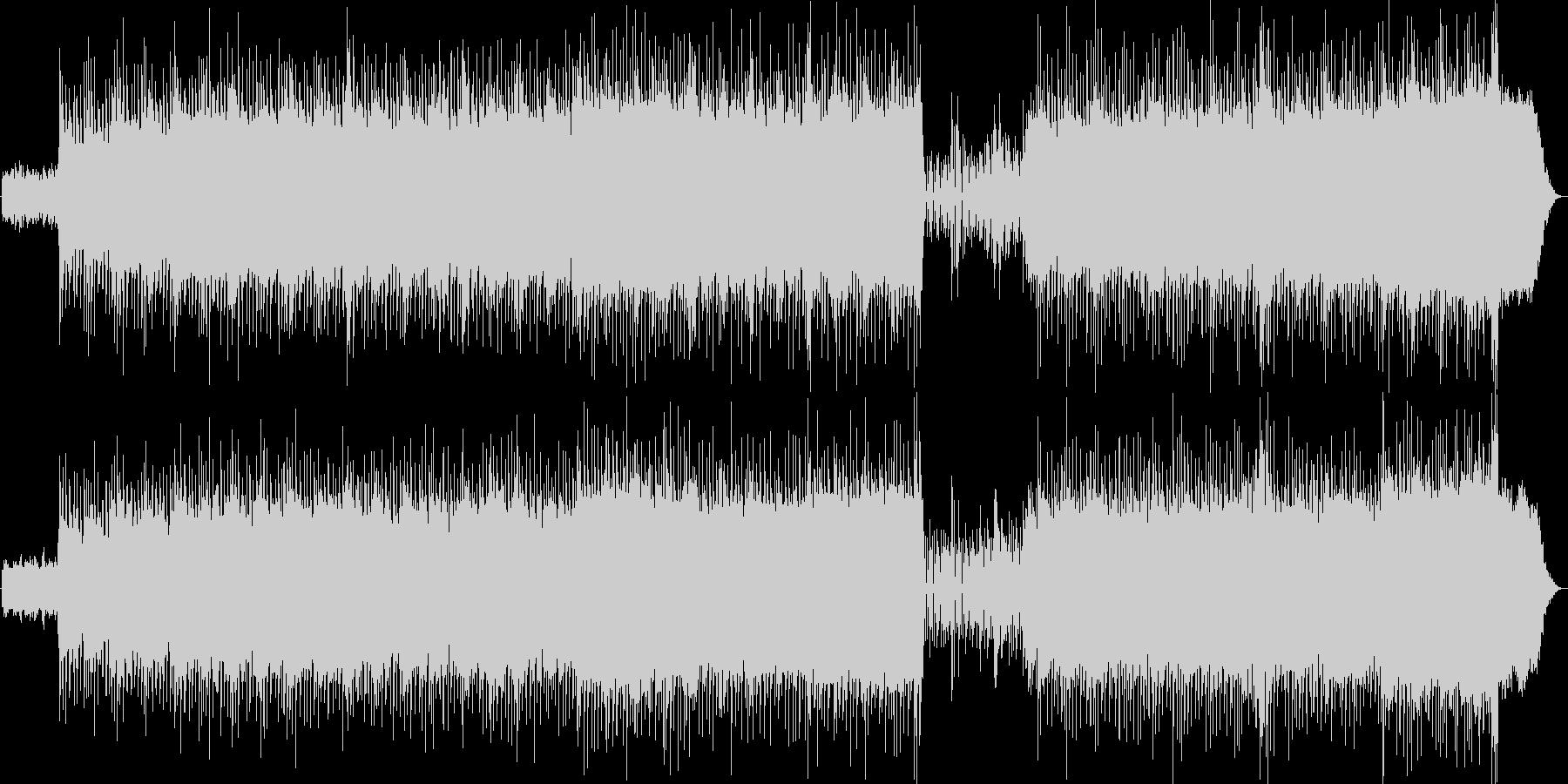 重たいドラム・軽快なアルペジオの未再生の波形