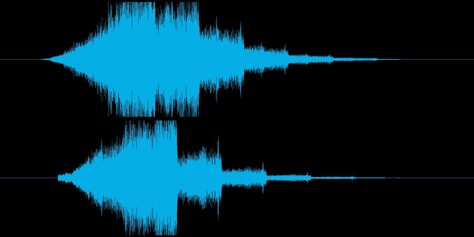 ジャーン(企業ロゴ、スピード)の再生済みの波形