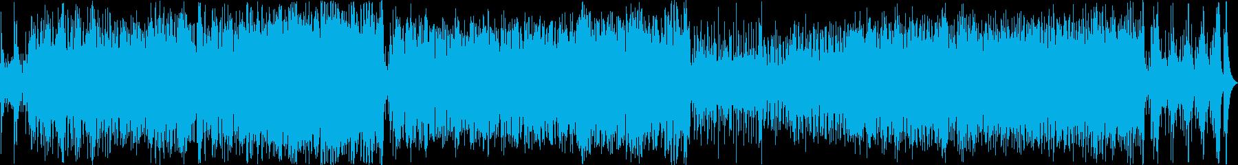 ラテンバンド風軽快で明るい音楽の再生済みの波形