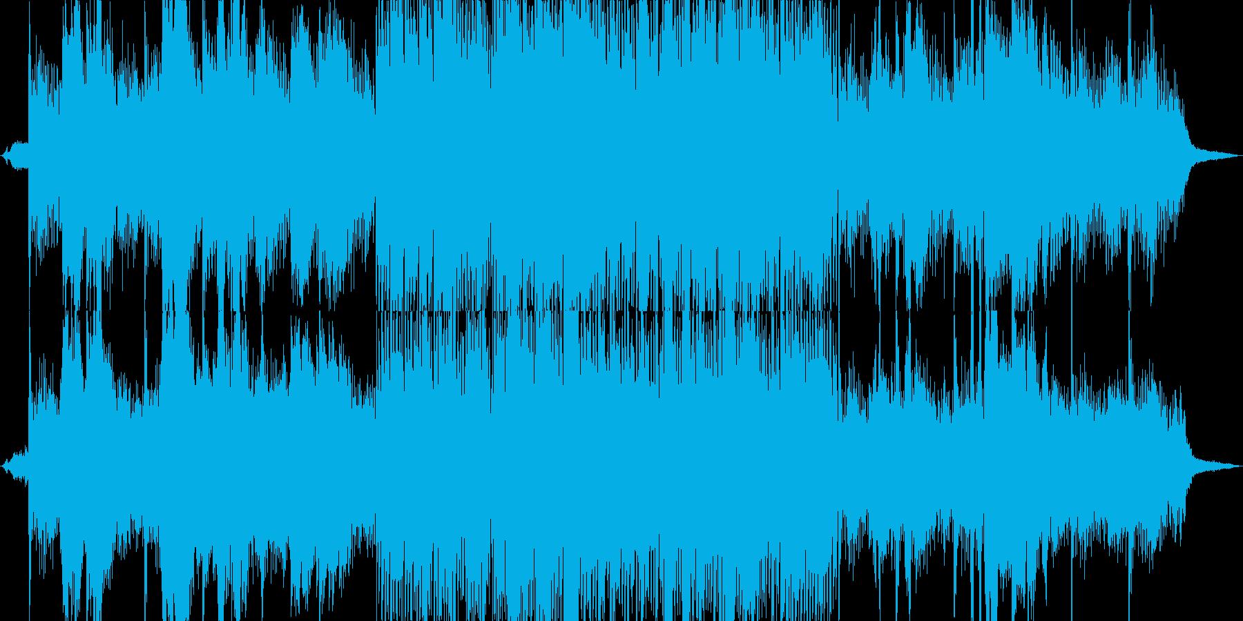 透明感のあるヒーリング+川のせせらぎの再生済みの波形