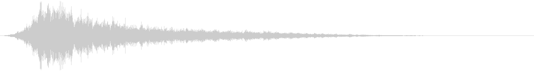 ホワワーン(サウンドロゴ、決定)の未再生の波形