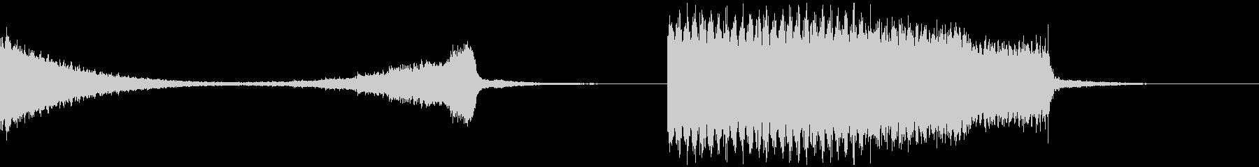 パチスロ大当たりの電子音ファンファーレの未再生の波形