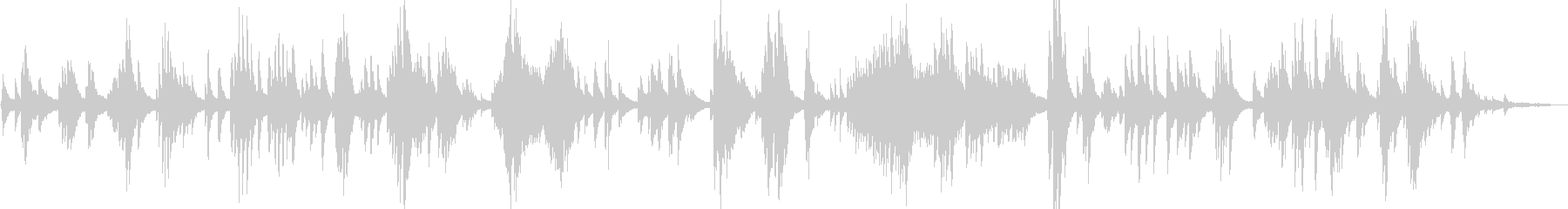 アンビエント系 優しく美しいピアノソロの未再生の波形