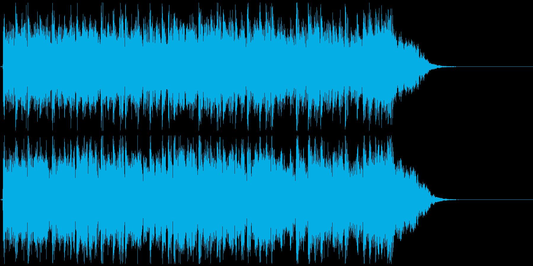 ロック系ドラムンベース◆CM向け15秒曲の再生済みの波形