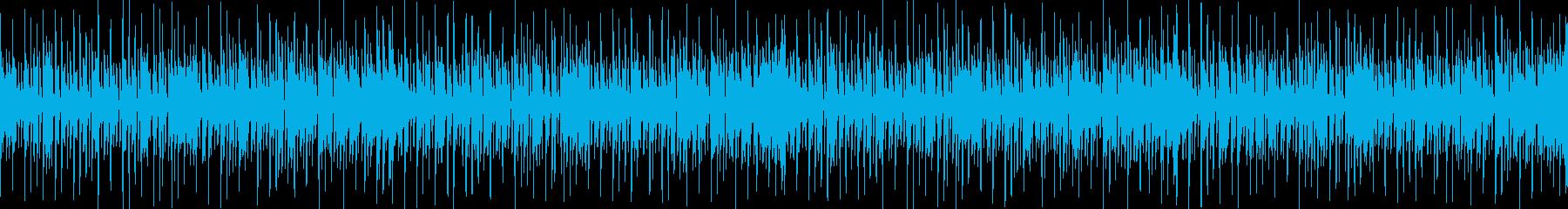 スラップベースとカッティングギターBGMの再生済みの波形