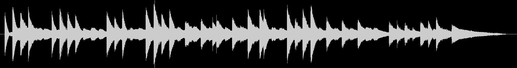 モミの木モチーフXmasピアノジングルEの未再生の波形