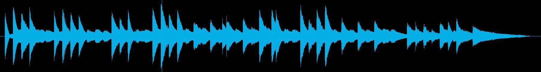 モミの木モチーフXmasピアノジングルEの再生済みの波形