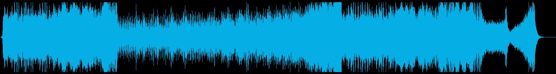 華やかなファンファーレのオーケストラの再生済みの波形