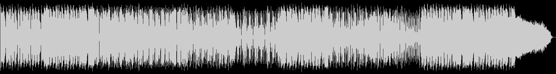 ギターのカッティングが印象的なBGMの未再生の波形