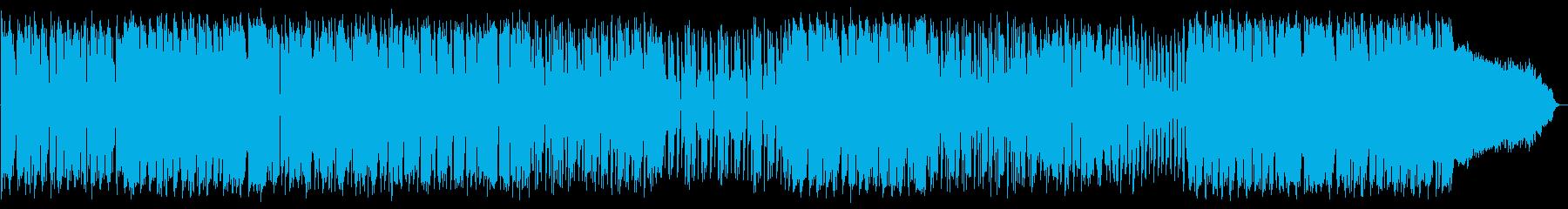 ギターのカッティングが印象的なBGMの再生済みの波形