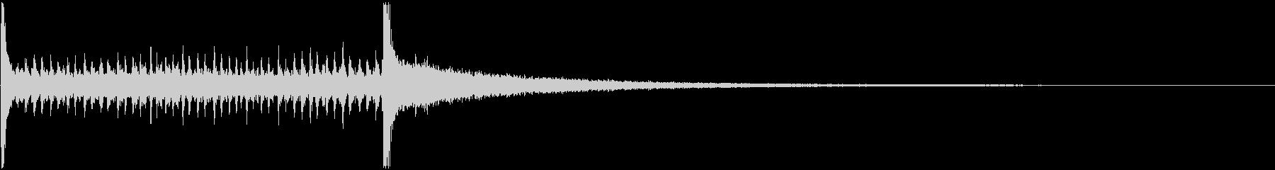 ドラムロールAの未再生の波形