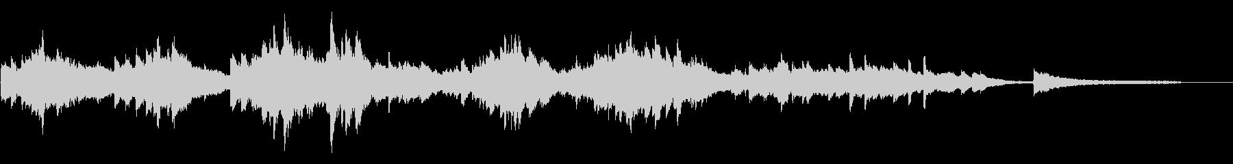 切ないアンビエントピアノ60秒CM広告の未再生の波形