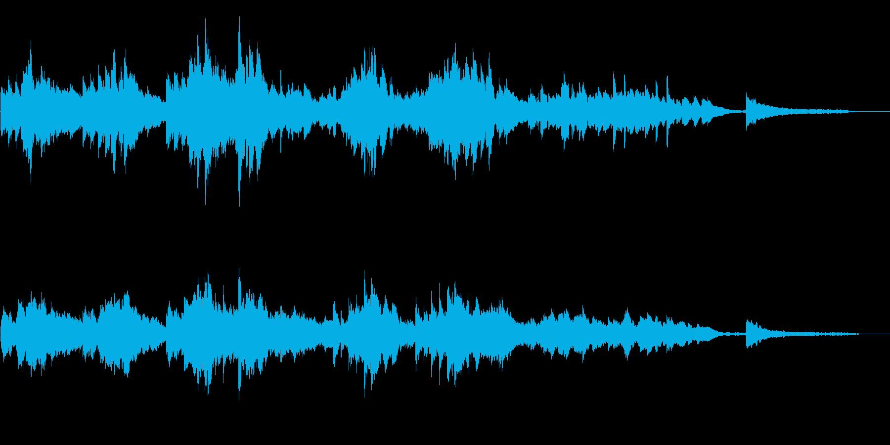 切ないアンビエントピアノ60秒CM広告の再生済みの波形