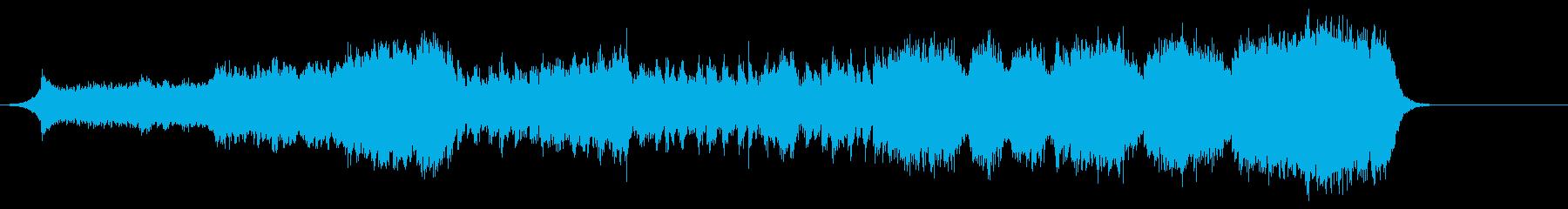 アクションゲーム風の音楽の再生済みの波形