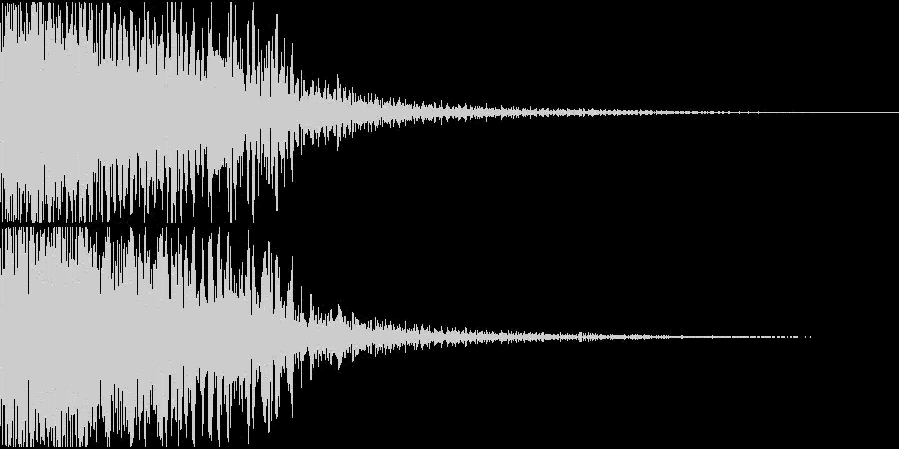 派手な大規模な爆発音の未再生の波形