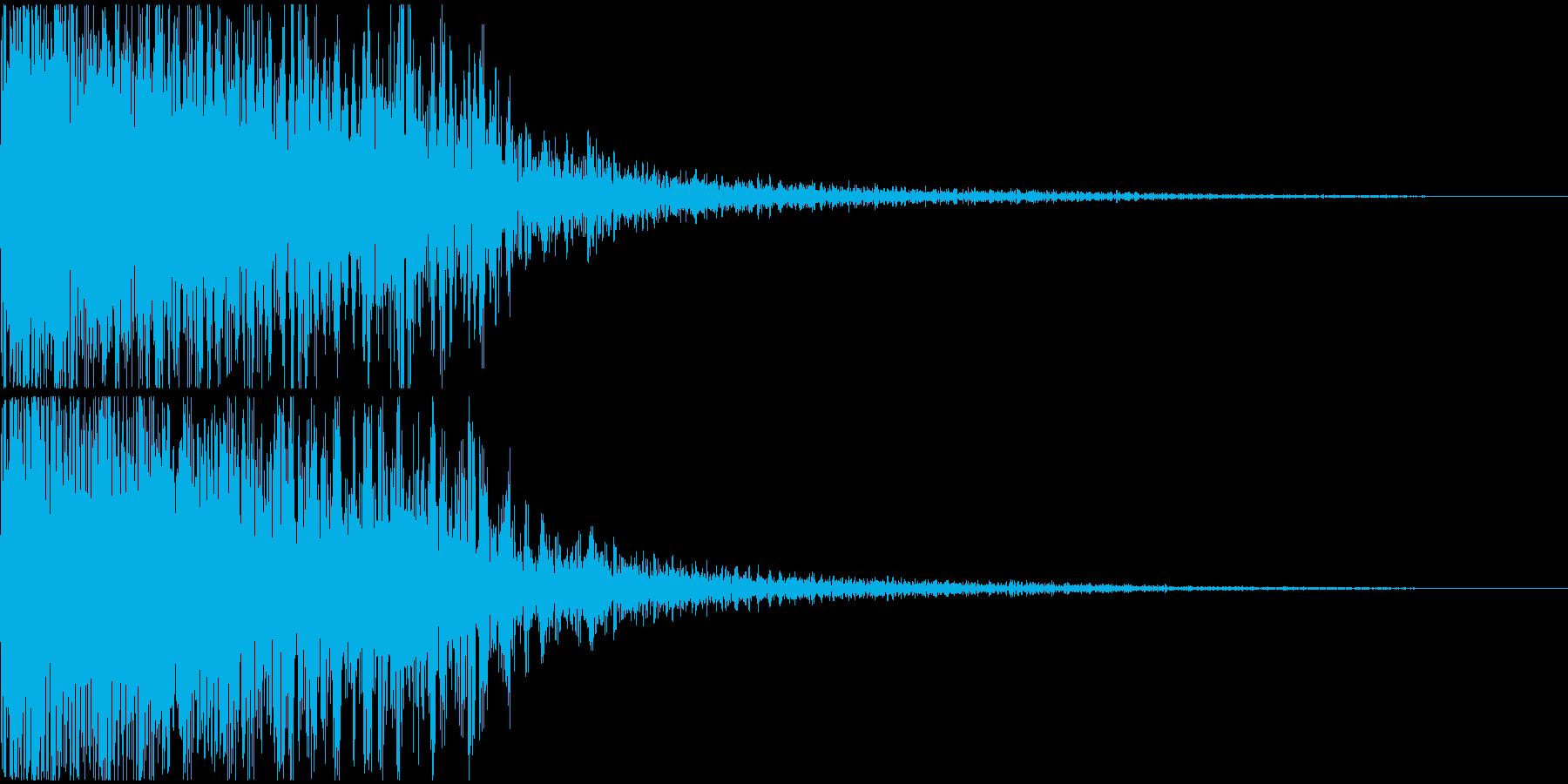 派手な大規模な爆発音の再生済みの波形