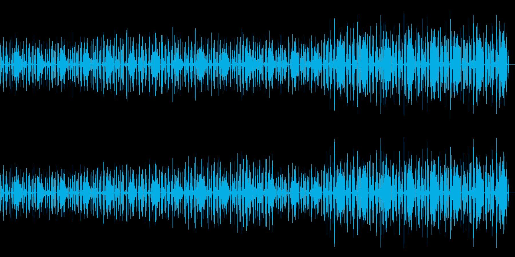のびのびとした雰囲気のインストの再生済みの波形