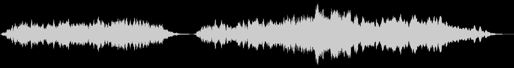 オーケストラ音楽ベッド:ドラマ:光の光線の未再生の波形