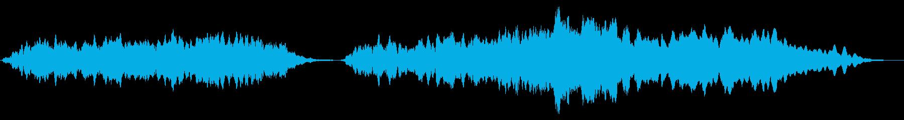 オーケストラ音楽ベッド:ドラマ:光の光線の再生済みの波形