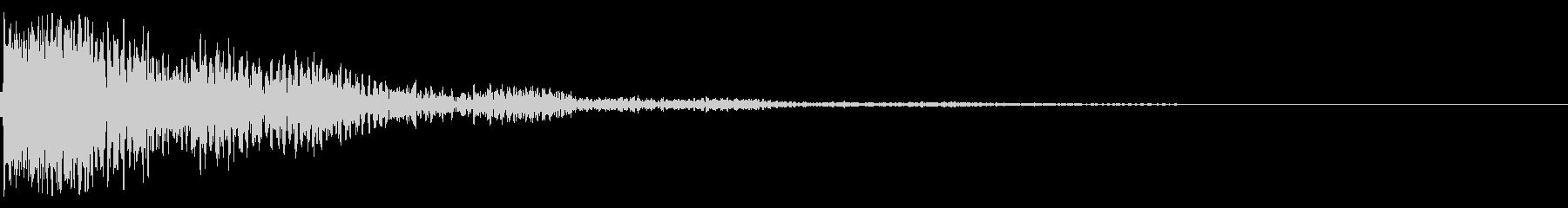 太鼓と鼓の和風インパクトジングル!01の未再生の波形