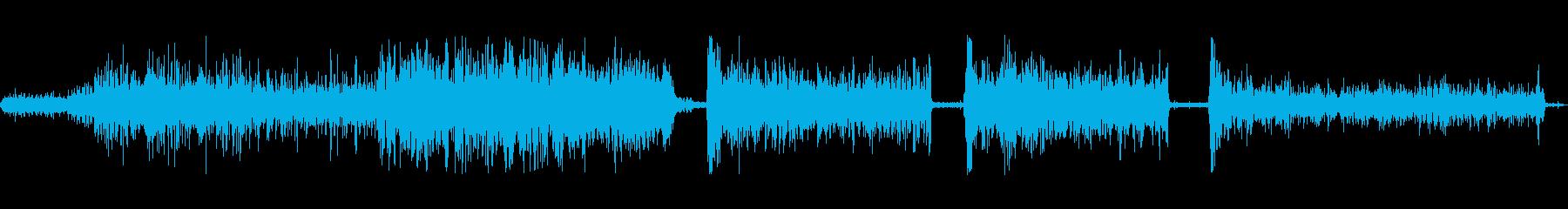水水中ツールの再生済みの波形