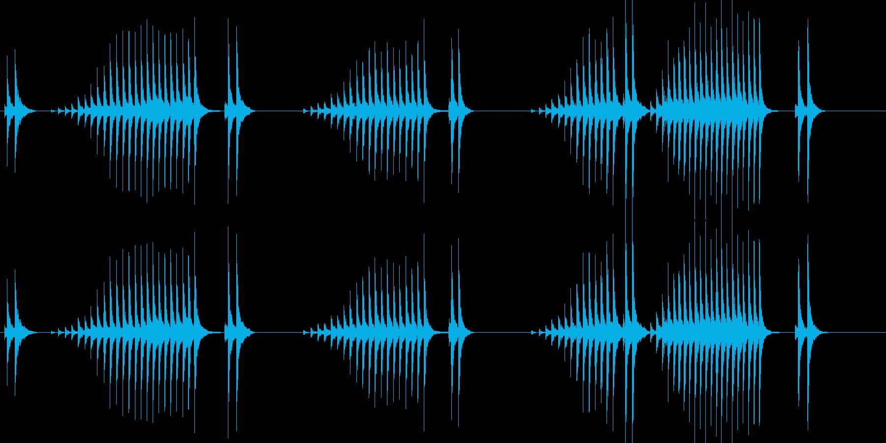 大太鼓19波音歌舞伎情景描写和風和太鼓江の再生済みの波形