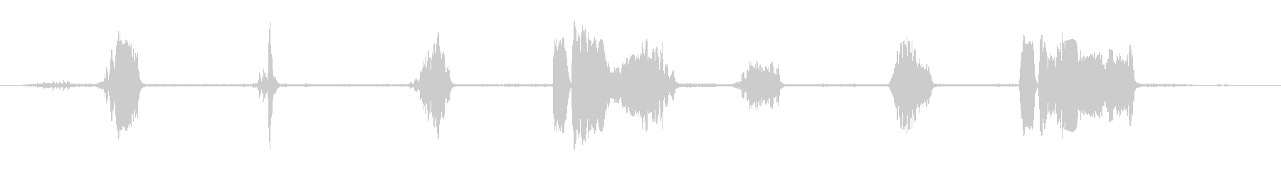 コラール0-20の雄鶏と羊の未再生の波形