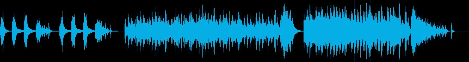 「さくらさくら」の流麗で繊細なハープの再生済みの波形