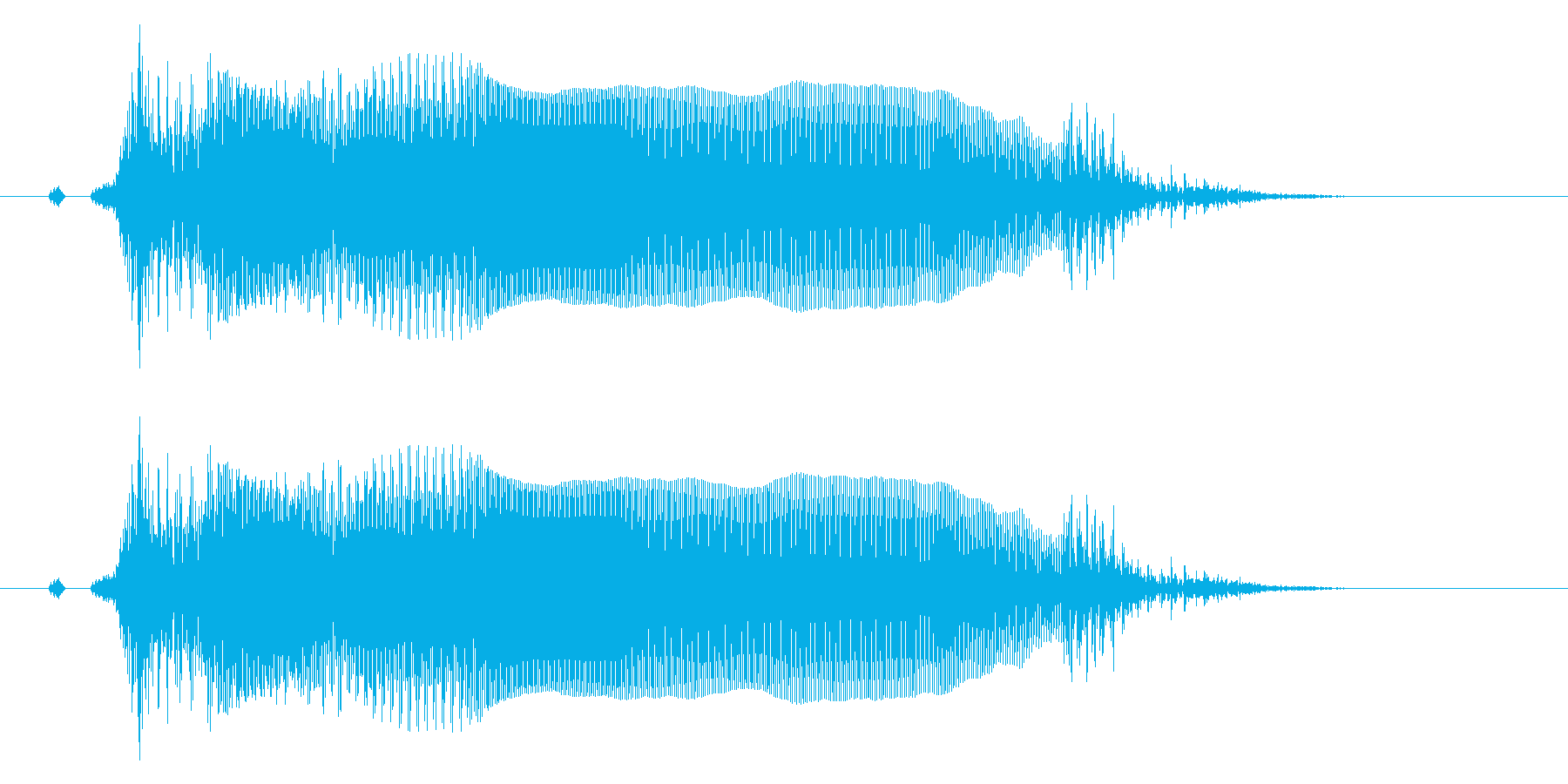 とぉ!アクション系のかけ声に最適!女性1の再生済みの波形