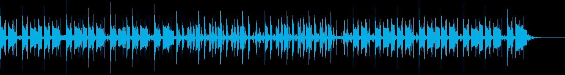 ベース主体の不穏なシーンで映えるBGMの再生済みの波形