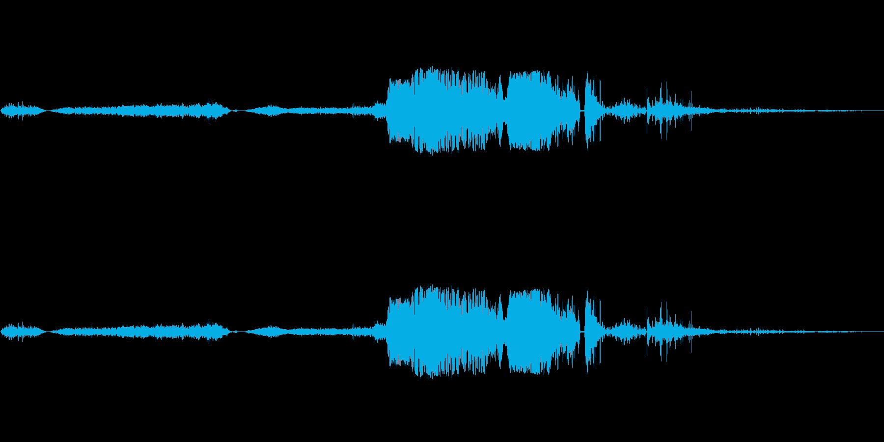 加工されたボーカルスニーズその他の...の再生済みの波形