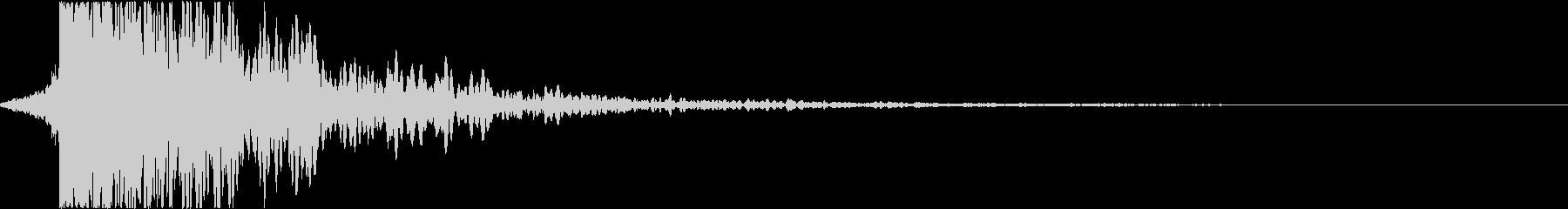 シネマチックなインパクト(衝撃)音の未再生の波形