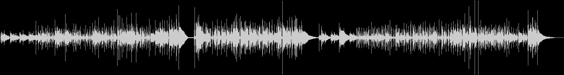 <生演奏>レトロなアコギジャズ風の曲の未再生の波形