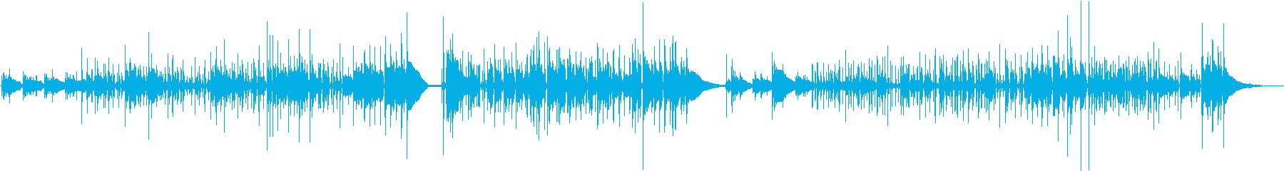 <生演奏>レトロなアコギジャズ風の曲の再生済みの波形