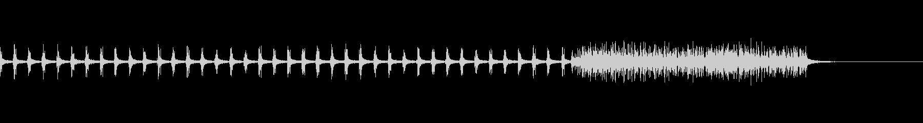 手拍子→拍手(長め) の未再生の波形