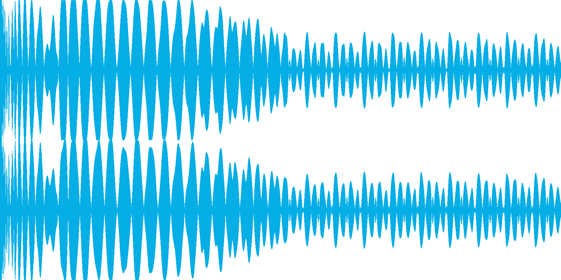EDMキー(E)入りキック の再生済みの波形