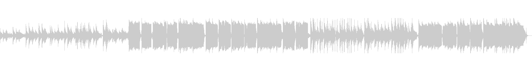 ★夕焼けをイメージしたトランペットBGMの未再生の波形