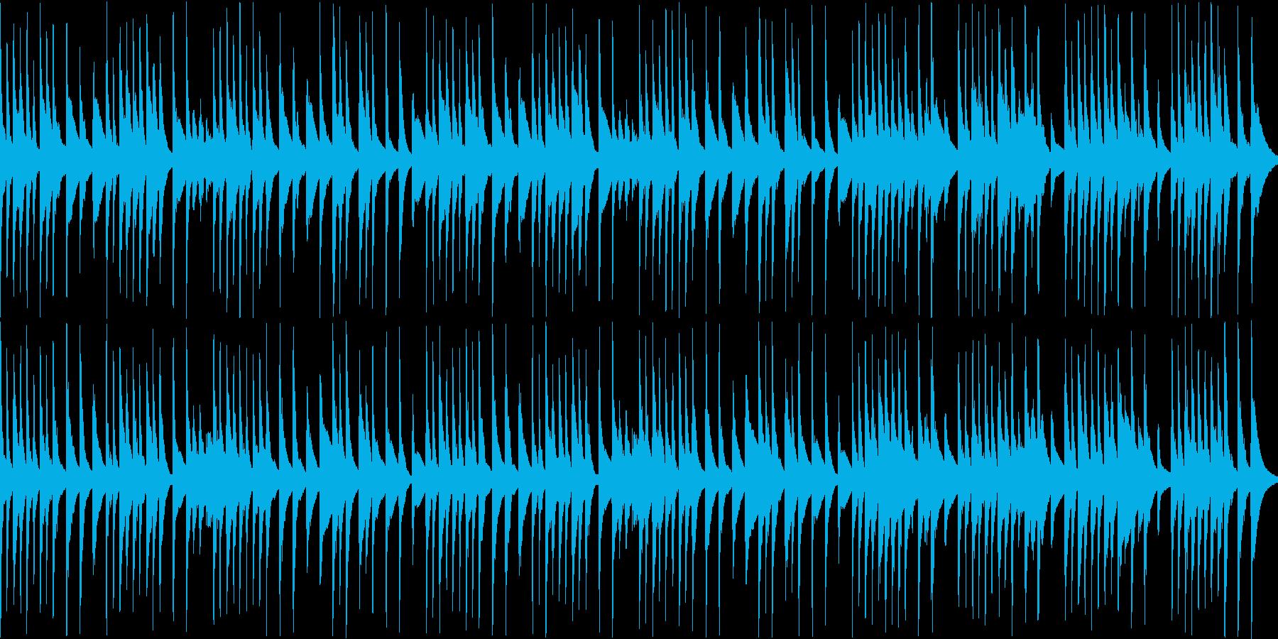 木琴が可愛い名曲ガヴォット(ループの再生済みの波形