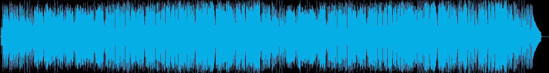リラックスできるピアノのボサノヴァ曲の再生済みの波形