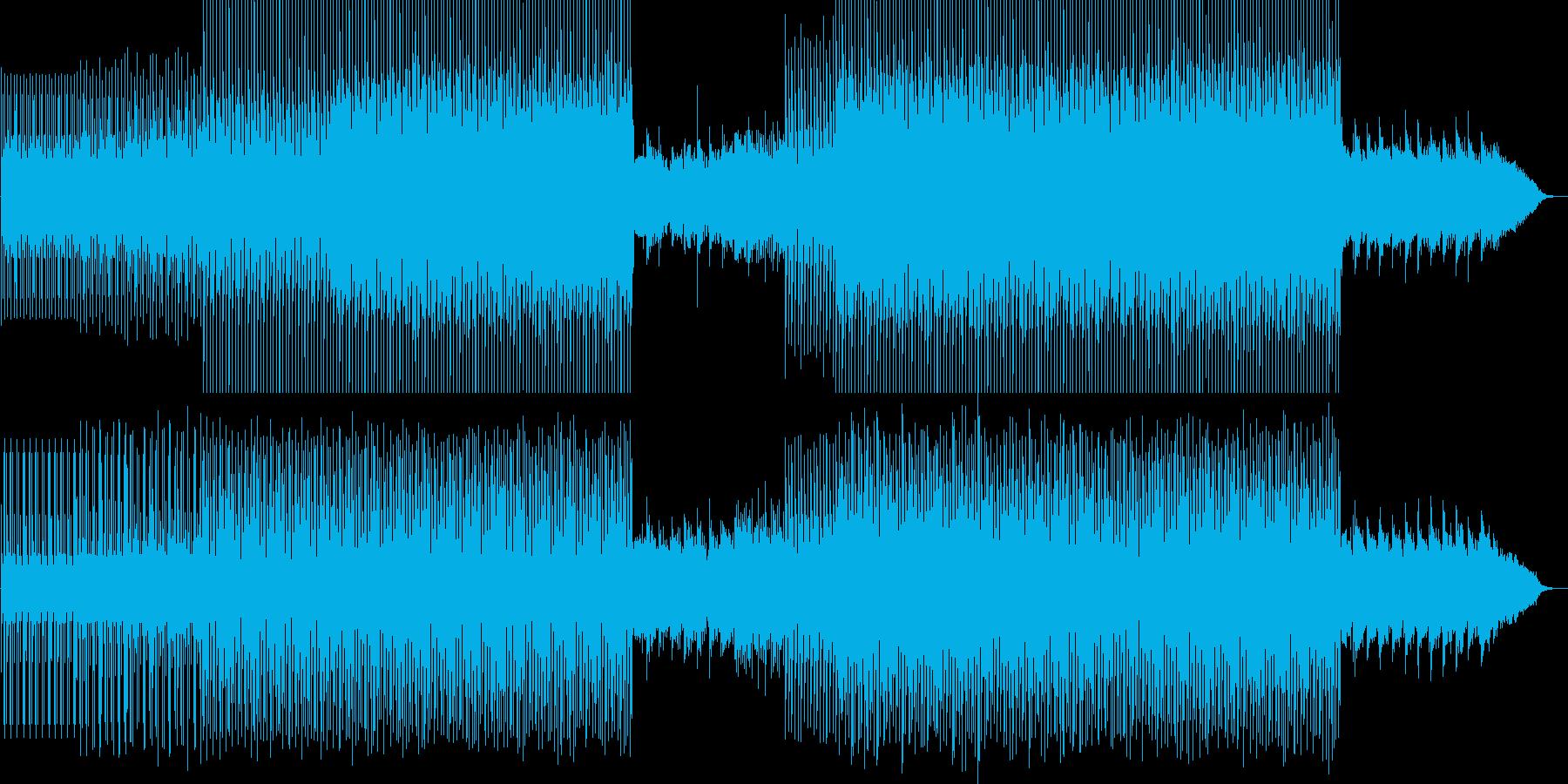 スピード感のあるにぎやかなメロディーの再生済みの波形