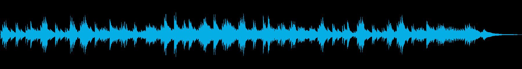 優しく切ないピアノソロ(短調)自然な旋律の再生済みの波形