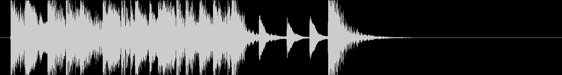 ピアノトリオによるジャズジングルの未再生の波形