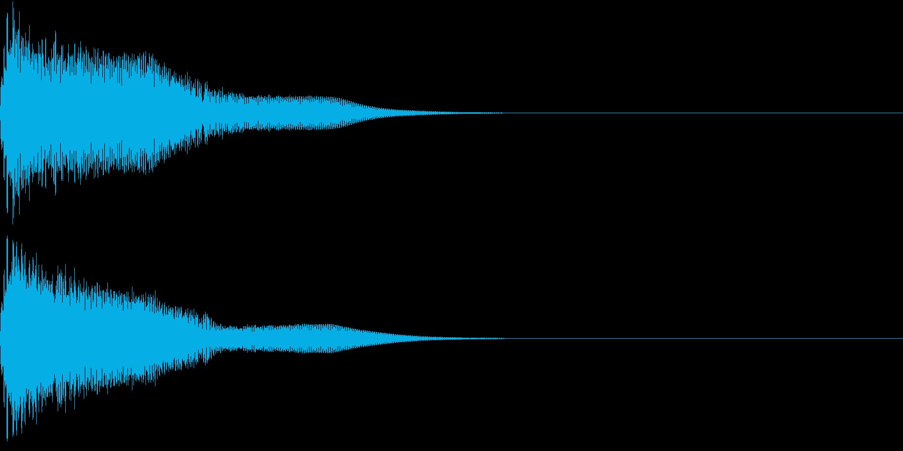 光る  輝く  キュピーン  キラーンHの再生済みの波形