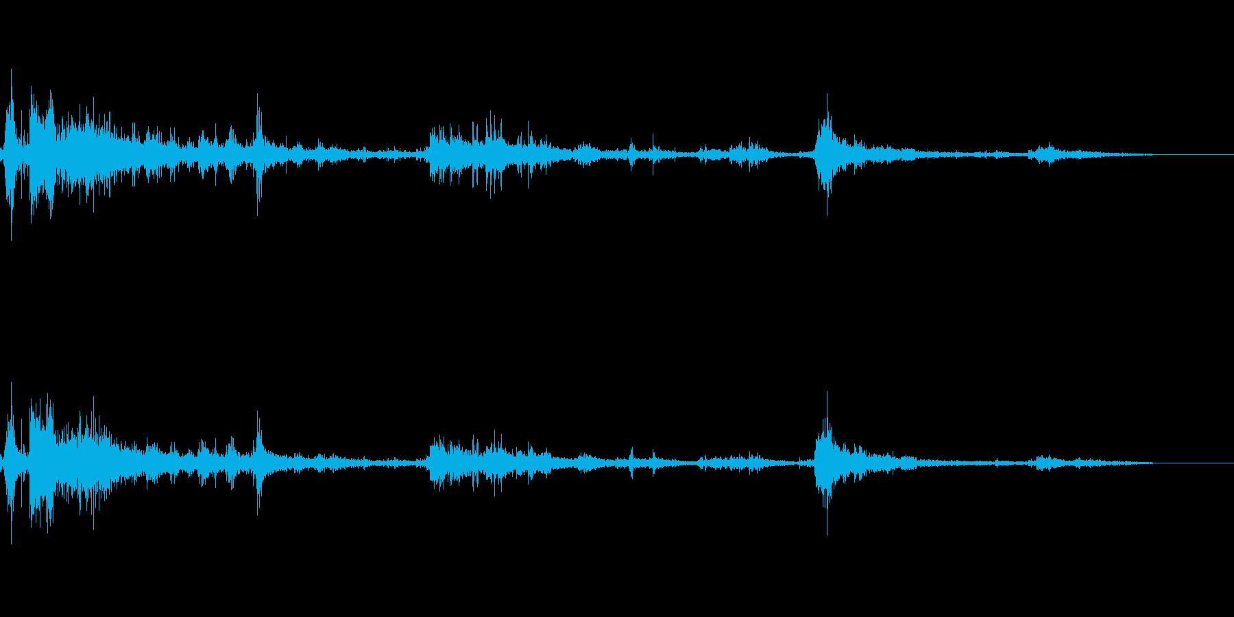 カミナリ(遠雷)-39の再生済みの波形