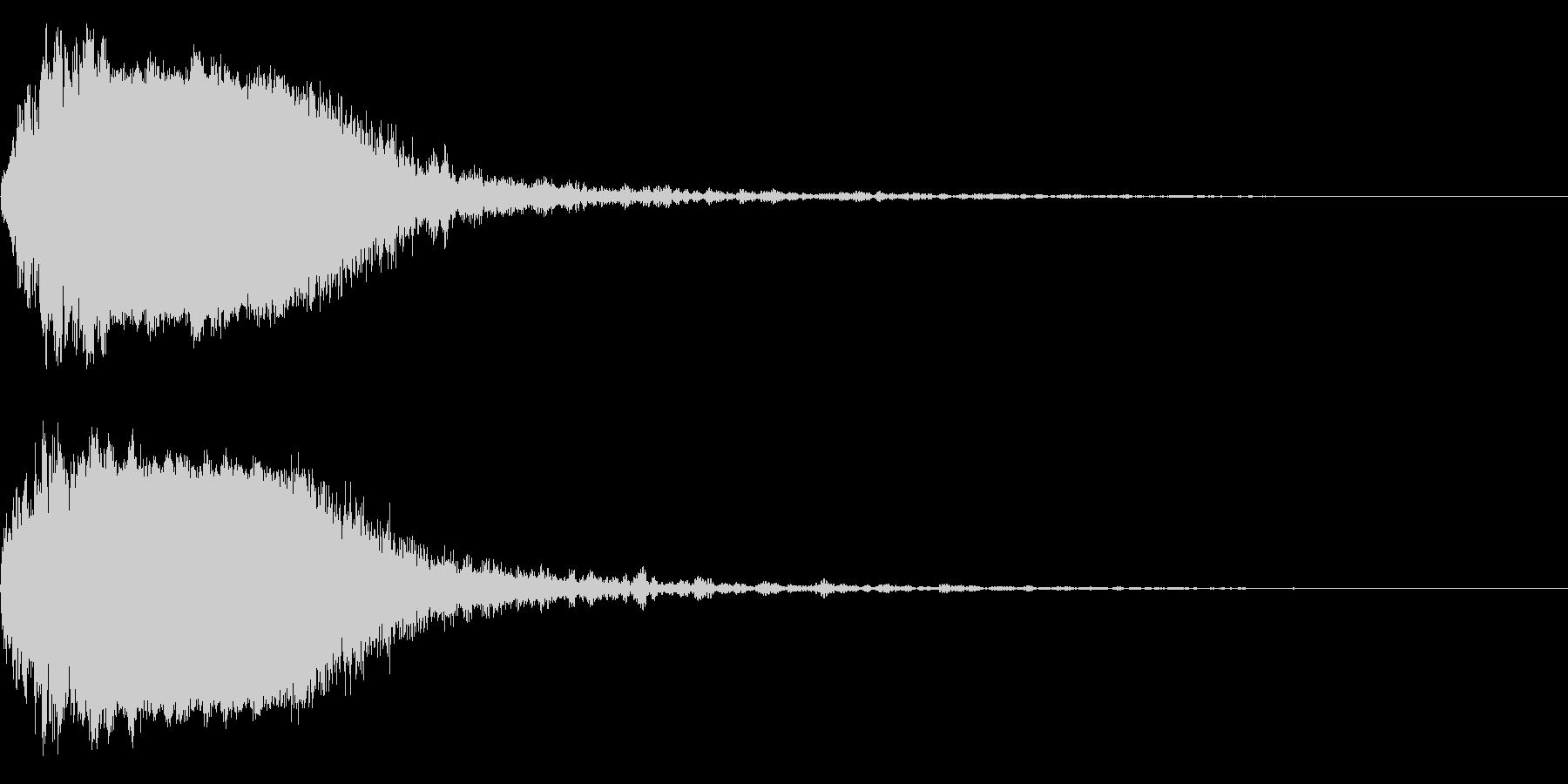 シャキーン!ド派手なインパクト効果音36の未再生の波形