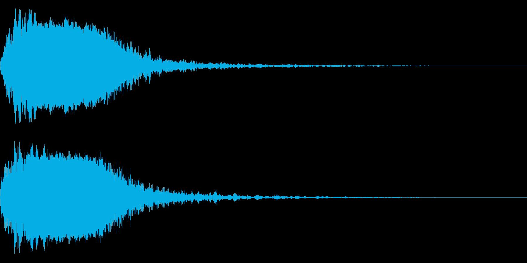 シャキーン!ド派手なインパクト効果音36の再生済みの波形