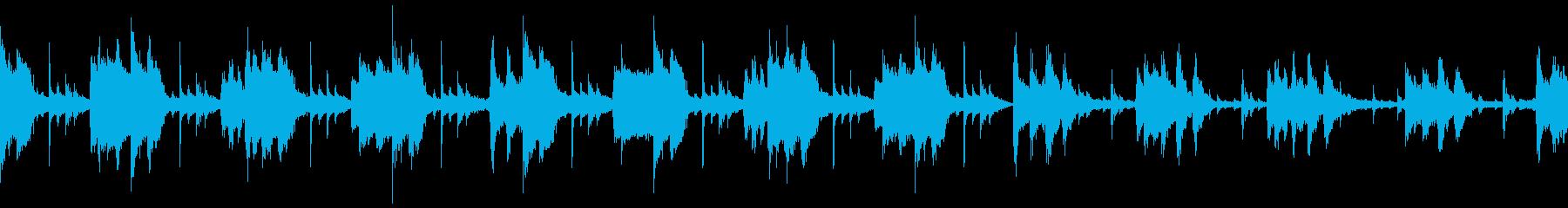 怪しいハロウィンの夜をイメージしたBGMの再生済みの波形